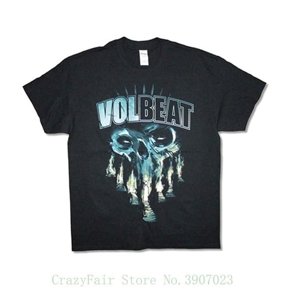 Volbeat мужской череп ворота футболка черный мультфильм печати с коротким рукавом футболка Бесплатная доставка