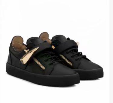 High quality free shipping black crocodile grain leather for men's and women's shoes,high-level fashion sneakers chaoliu003