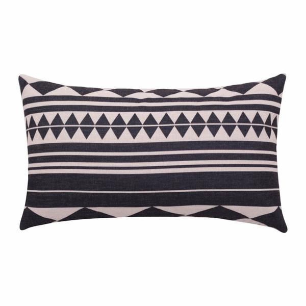 wholesale Geometric Lumbar Pillow Cover Ethnic Cushion Cover Linen Cotton Decorative Pillow Cases Rectangle Pillowcase for Sofa Home Decor