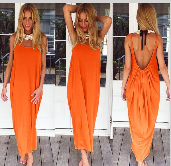orange backness maxi dress