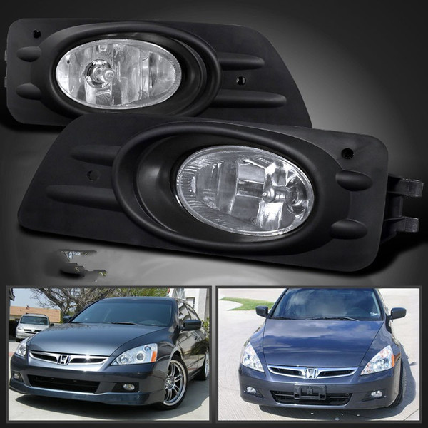 Car fog light lamp for HONDA ACCORD 4-DOOR 2006~2007 (U.S.TYPE & MIDDLE EAST TYPE) Clear Halogen bulb H11 Front Fog Lights Bumper Lamps Kit