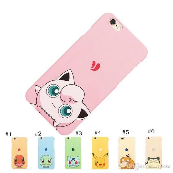 2017 Nuevo Funda iPhone7 Funda Móvil Pikachu Apple 6splus Funda Japan Original Scrub