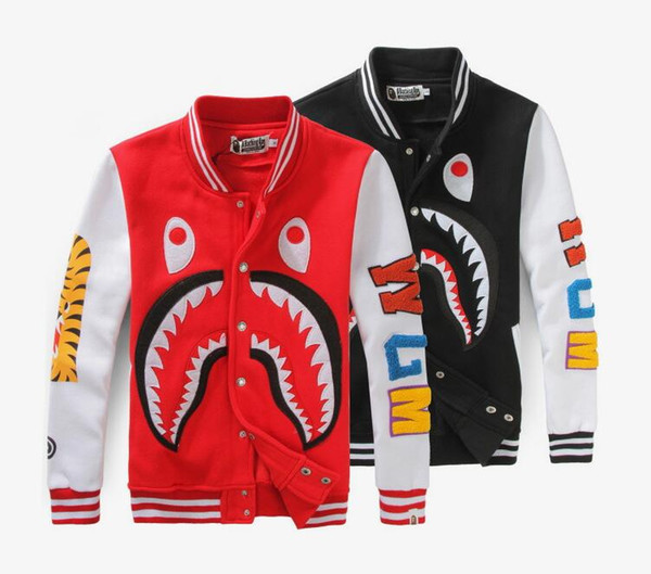 2018Europe and AmericaAutumn and winter Fashion High version shark's mouth prints casual clothes yeezus hip hop men and women wear baseball
