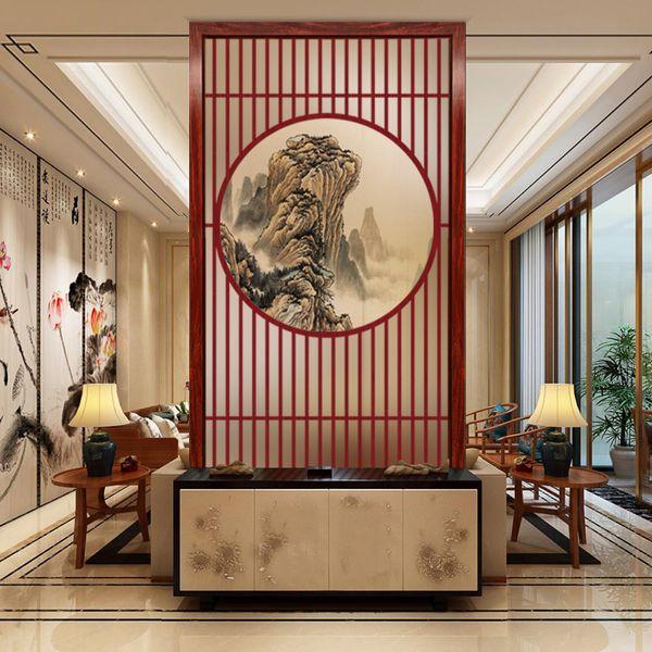 Großhandel Dekorieren Schlafzimmer Kunst Glas Paravent Wand Trennwand Zwei  Seiten Wohnzimmer Konsolenschrank Rost Modern Movable Von Ygx19900626, ...