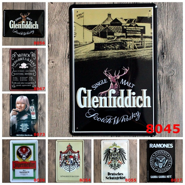 Vintage Wine Iron Dipinti Single Malt Glenfiddich 20 * 30 cm lattine Poster Bed Breakfast Targhe in metallo per soggiorno Hang Decorazione 3 99lja BZ