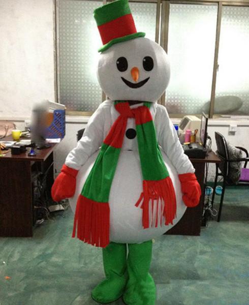 Фабрика прямая продажа Рождество Снеговик костюм талисмана популярные рождественские Хэллоуин снеговик костюмы для Хэллоуин праздничные атрибуты