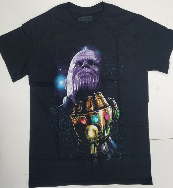 Marvel Avengers: Infinity War Thanos мужская графическая футболка пользовательские печатные футболки хип-хоп смешные мужские футболки