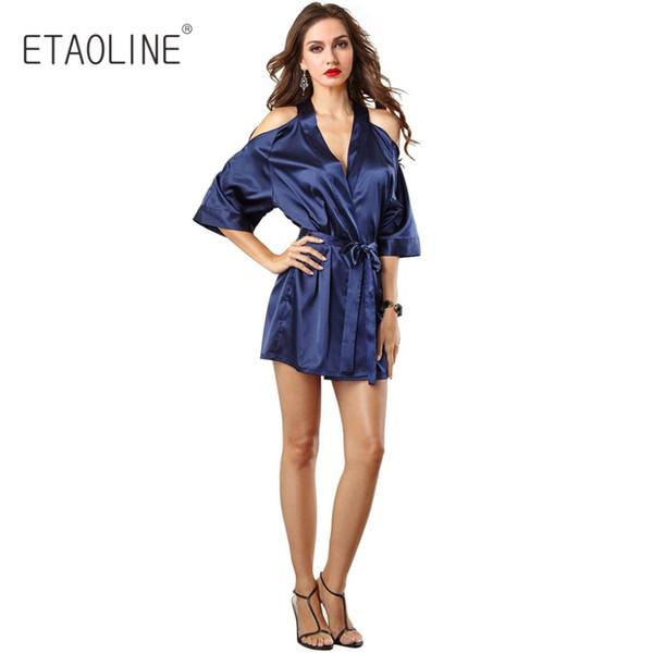 0da64577a70 ETAOLINE 2018 new Women Sexy Nightgown Silk Lace Women Sleepwear Sleepdress  Ladies Homewear Nightdress Sleepshirts For