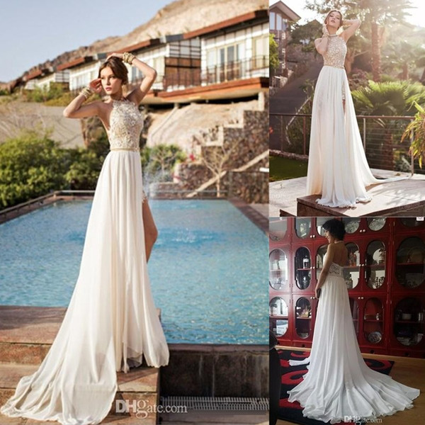 Sexy Backless Beach Prom Dresses