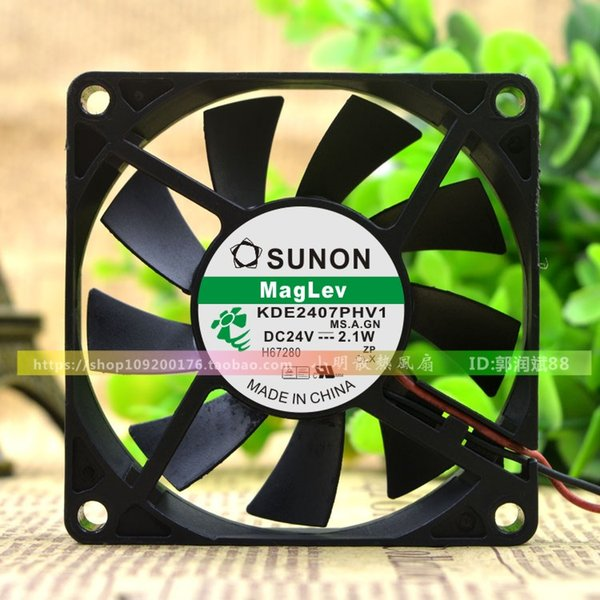 For original built-in SUNON 7CM 24V 2.4W KDE2407PHV1-A 3-wire cooling fan 7015