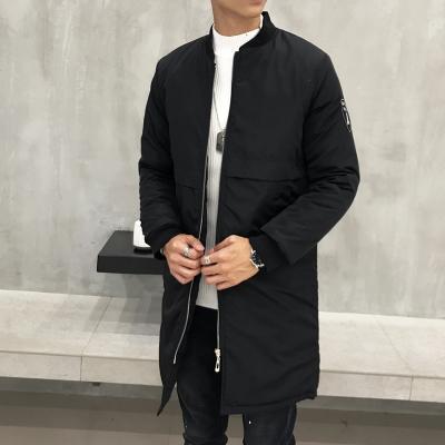 2019 di grandi dimensioni lungo bombardiere giacche uomini hip hop streetwear pattino collare baseball Tyga volo militare dimensioni Trench più