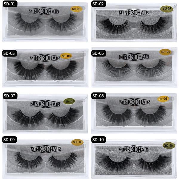 3D Nerz Wimpern Nerz Falsche Wimpern Weiche, natürliche, dicke, gefälschte Wimpern 3D Wimpernverlängerung 17 Modelle werden innerhalb von 24 Stunden versandt. DHL-frei