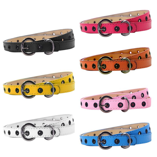 Children PU leather Belts Kids Brand Belt Child Waistband Classic Boys Girls Color Leisure Waist Strap 6 Color