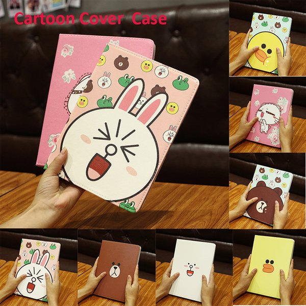 New Cute Little Animals Cartoon Leather Case for iPad Mini 1 Stand Cover for Apple iPad Mini 1 Fit for iPad PCC074