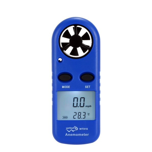 LCD Mini Anemometer Multifunctional rpm tachometer Wind Speed Air Velocity Temperature meter Measurement Beaufort Scale Display