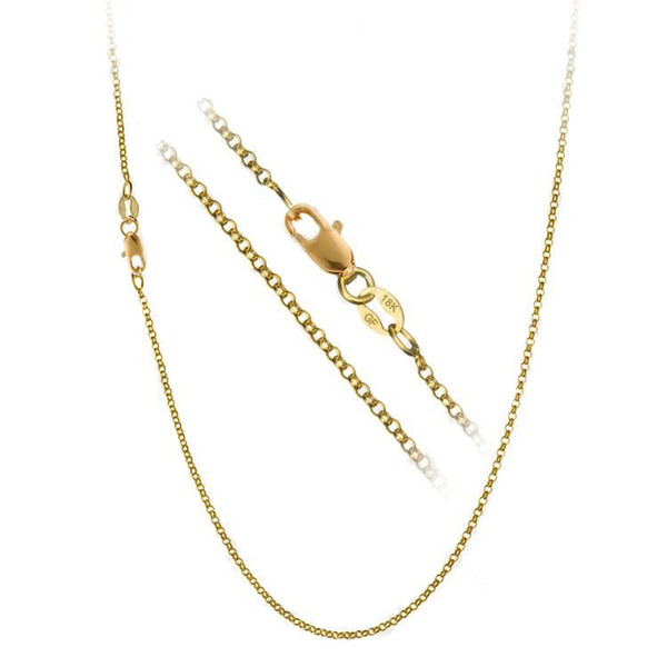 """whole saleJEXXI 1PC Nice Accessories Findings 16""""-30"""" Necklace Chains O Genuine Gold Filled Link Rolo Chain+Lobeter Clasp Pendant Cheap"""