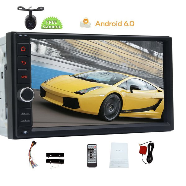 EinCar in Dash Android 6.0 Double Din 7'' Capacitive Touch Screen Car Stereo NO DVD Player GPS Navigation Wifi Bluetooth Universal 2din