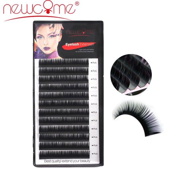 NEWCOME 12 Linien 0,05-0,15 mm 3D Volumen Seide Wimpernverlängerung 8-15mm Länge Falsche Wimpern Korea Wimpern für Makeup Profis