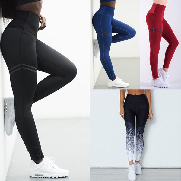 top popular womens leggings Womens Fitness Yoga Leggings Running Sport High Waist Jogging Pants Trousers sport leggings 2019
