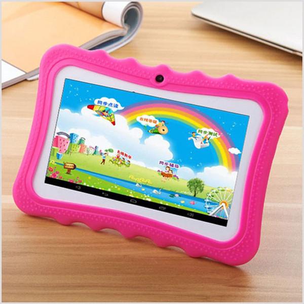 Tablette éducative pour enfants 2018 7 pouces écran Android 4.4 Allwinner A33 Quad Core 512 Mo de RAM 8 Go ROM double caméra WIFI Tablet PC MQ5