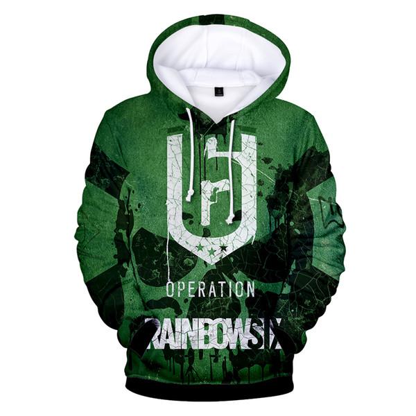 W1 Rainbow Six Siege 3D Hoodies Men Women Video Game Streetwear 3D Print Hoodie Sweatshirt Casual Gamer Clothing Anime Jacket