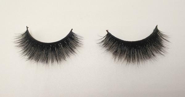3D Mink False Eyelashes 100% Mink Fur Long Thick Hand-made Reusable Eyelashes Natural 1 Pair Pack MTL127