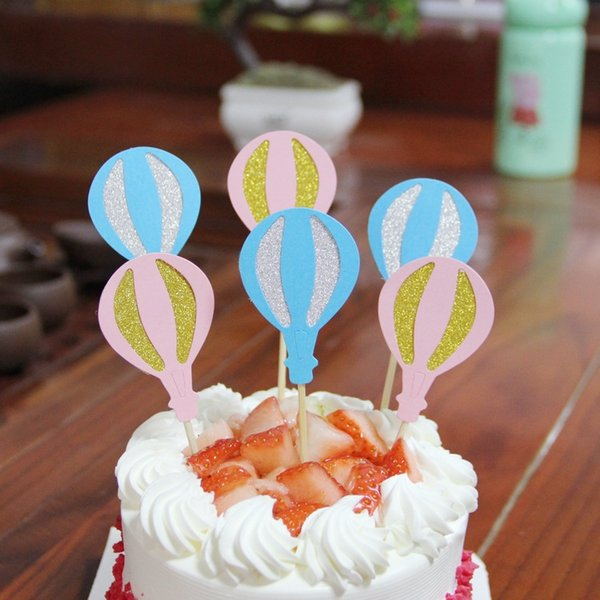 Cake Flags balloon Cupcake Cake Topper Toppers Kids Birthday Wedding Bridal Wrapper Party Baby Shower Baking DIY Xmas