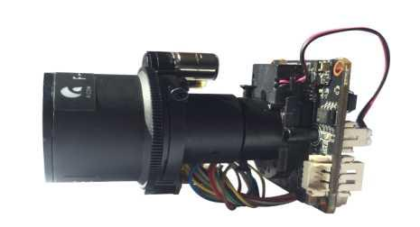 Hik platform 1/2.7'' 5.0MP OS05A10 CMOS H.265 2.8-12mm Motorized Zoom & Auto Focus IP Camera Board with Cable