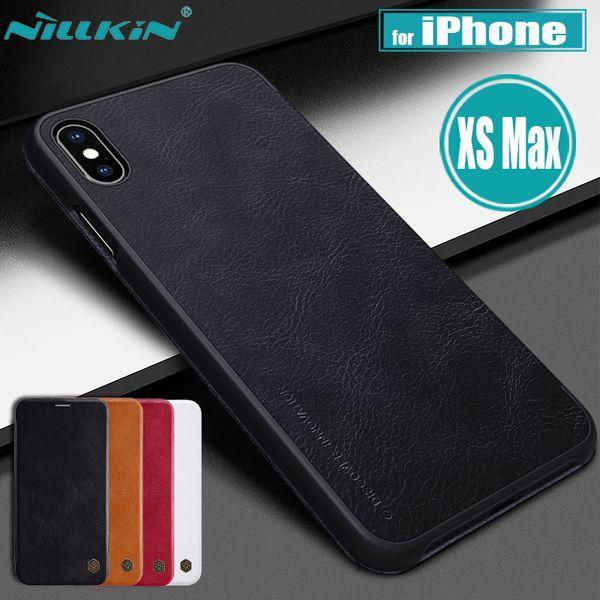 para iPhone XS Max Funda Nillkin Retro Suave PU Cuero de tirón Negocio Bolsa de teléfono inteligente Volver Casos para iPhone XS Max 6.5 '' Capa