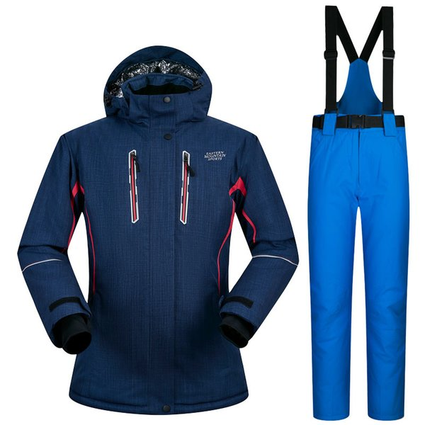Womens Ski Suits Snow Brand ski suits for female waterproof snowboard jackets pant women's winter mountain skiing woman