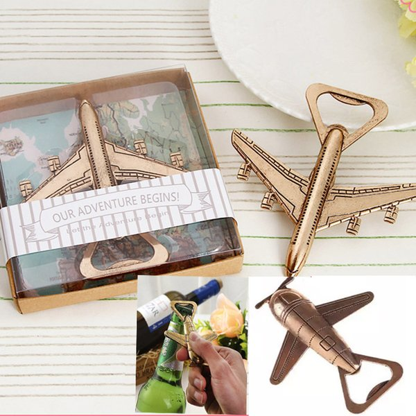 Helicopter Airplane Bottle Opener Antique Alloly Plane Shape Beer Wine Opener Wedding Gift Party Favors Kitchen Bar Tool Retail Pack HH7-986