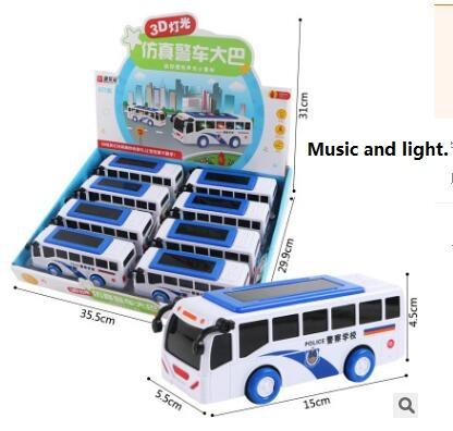 Police car big school bus High Speed Rail Vehicles Trains Model Toy Magnetic Train Great Kids Christmas Toys Gifts for Boys Girls