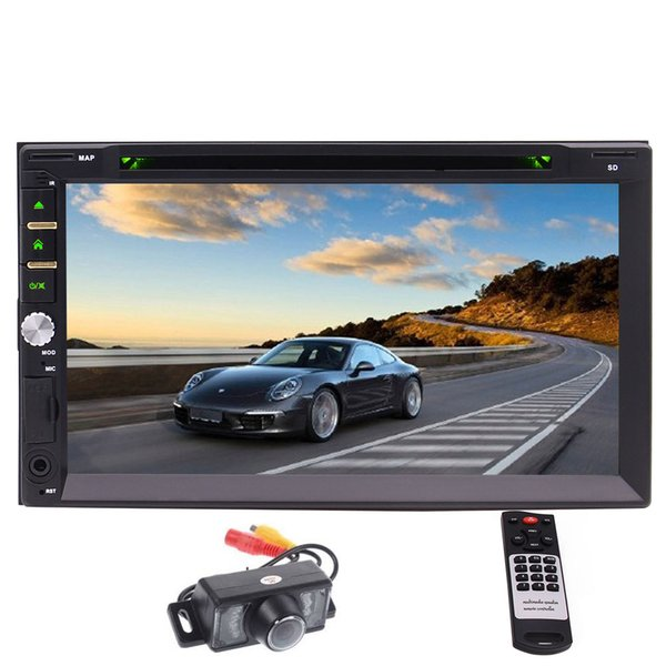 "EinCar 7"" Touchscreen In-dash Double Din Car DVD Player Stereo Wireless Bluetooth Music DVD CD MP3 FM AM Radio Receiver SD USB NO-GPS"