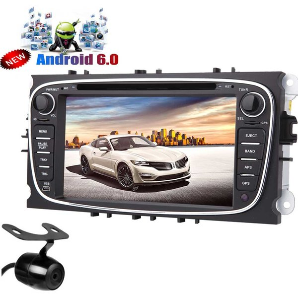 Android 6.0 Car Stereo GPS Navigation Quad Core Car DVD Player for Ford Focus Double Din 7'' Capacitive Touchscreen Car Radio Receiver