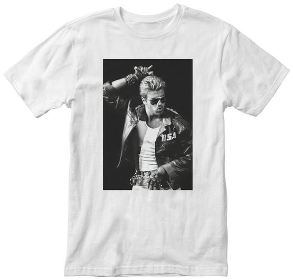 George Michael BSA Ceket Pic Erkek Beyaz T-Shirt YENİ! S M L XL 2XL 3XL