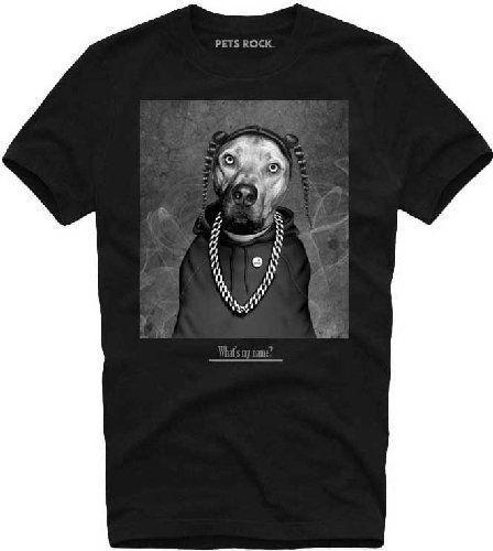 Pet Rocks - Snoop Camiseta Homme / Hombre - Taille / Talla XL TIMECITY 2018 verano nuevos hombres de algodón Camiseta de manga corta Brand tops Moda