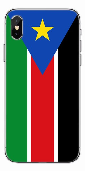 [TongTrade] Luxury Clear Soft Silicone TPU For iPhone X 8 7 6s 5s Plus Case South Sudan Flag For Samsung Galaxy S9 S8 S7 S6 Edge Plus Case