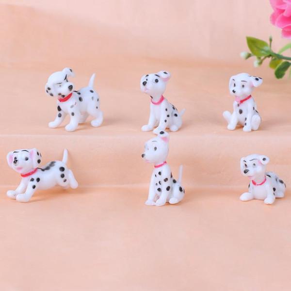 cane maculato figurina in miniatura mini decorazione fata giardino animale mestiere della resina statua Home Auto a torta di compleanno della decorazione