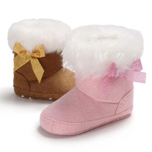 Kleinkind Baby Kinder Jungen Mädchen Warme Schneeschuhe Infant Jungen Mädchen Bowknot Winter Stiefel Weiche Sohle Krippe Party Casual Urlaub