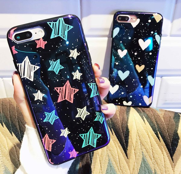 For Iphone X Phone Case New Hot Selling TPU luxury Glass Back Phone Cover Mobile Cellphone Case For Iphone 8