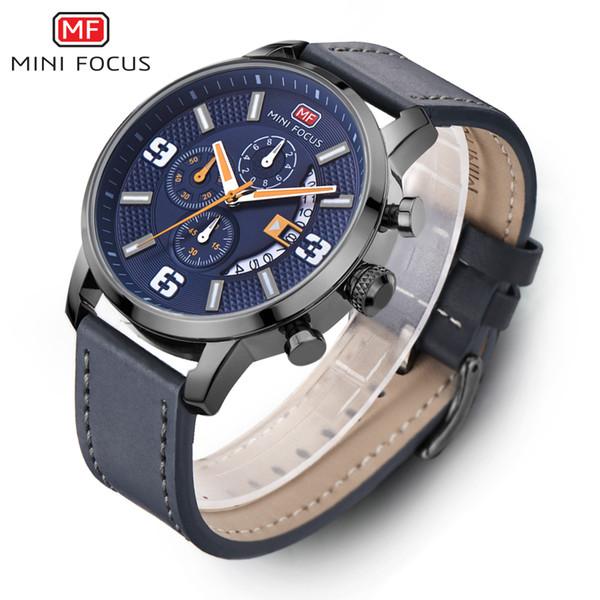 2017 MINI FOCUS Watch Men Brand Luxury Black Quartz Watch Stainless Steel Waterproof Casual Sport Male Clock Mens Wrist Watches S917