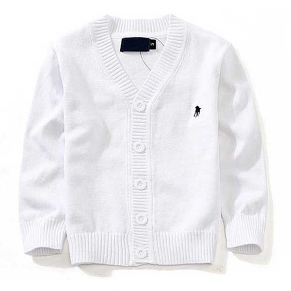 New Children's Top Clothes Brand 100% Cotton Baby Sweater High Quality Kids Outerwear Girl Sweater Boy Sweater V-neck Polo Sweaters 00001