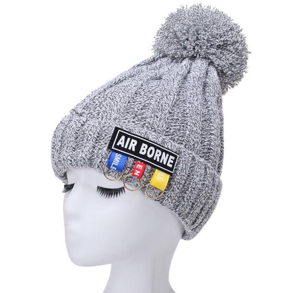 Compre Las Mujeres De Punto Sombrero Invierno Mantener Caliente ...