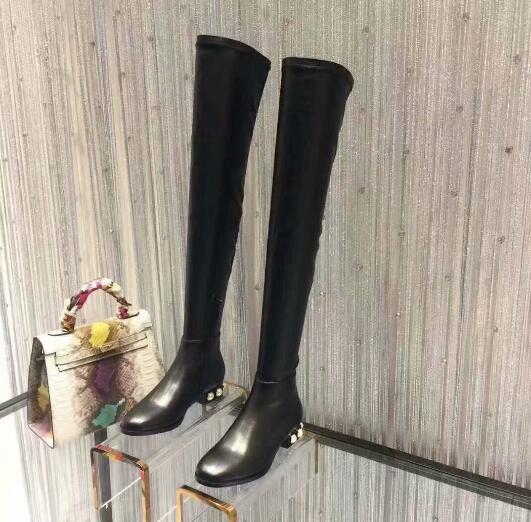 stivali tacco spillo basso