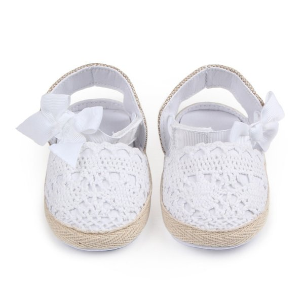 63269e2a244a 2018 Baby Girl Newborn Shoes Spring autumn Sweet Very Light Mary Jane Big  Bow Knitted Dance Ballerina Dress Pram Crib Shoe hot