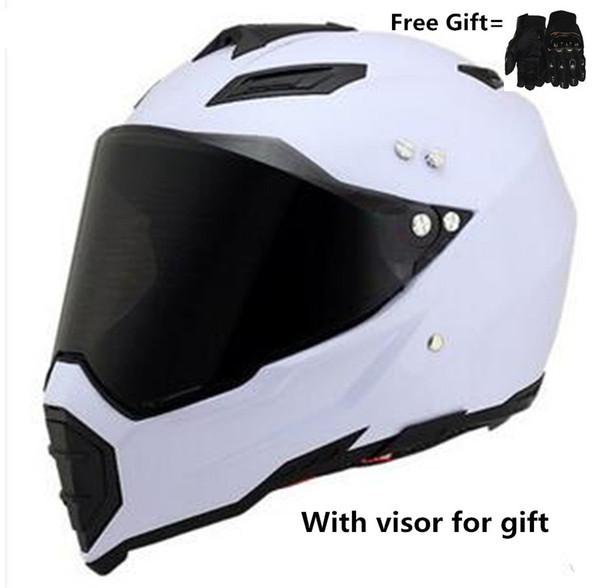 daf11366 Dual Sport Helmet Full Face Motocross DOT - S - Matte Red Motorcycle Helmet  Off Road