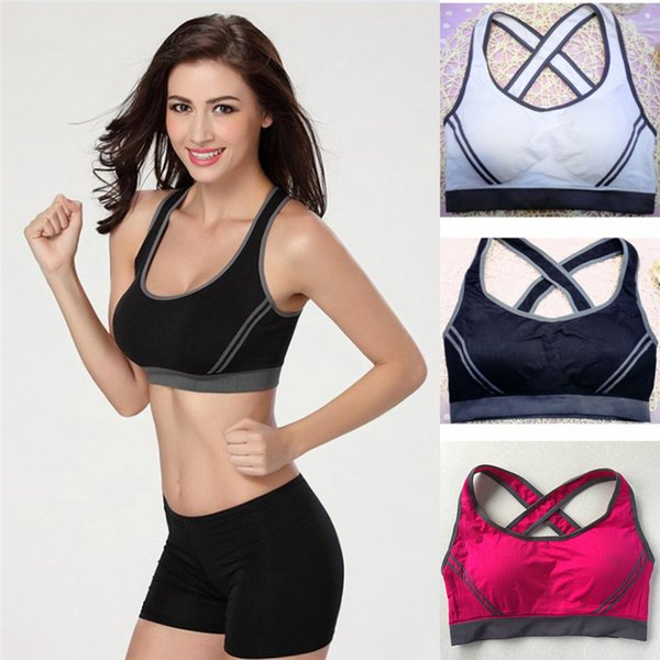 dd1d86797b compression bras Coupons - women fitness bra padded compression sport bra  top Sportswear Quick dry elastic