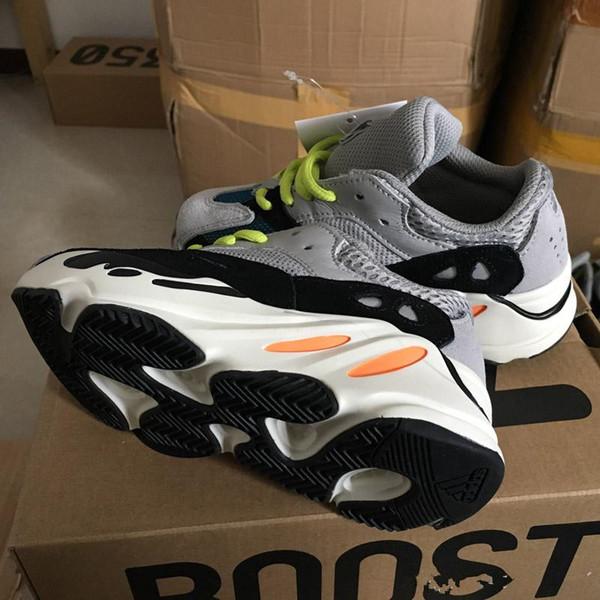 enfants baskets Kanye West Wave Runner Bottes 700 chaussures de course enfants 700 sport chaussures tout-petits occasionnels avec la taille de la boîte