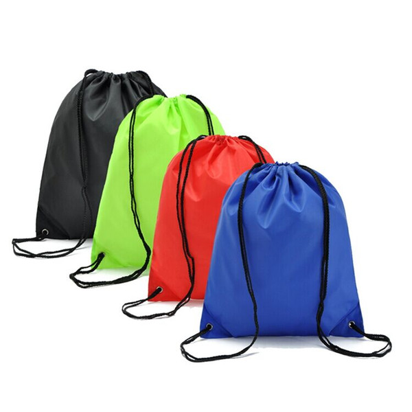 Simples cor sólida sacos à prova d 'água corda drawstring ombros feixe sacos de esportes mochila sacos de natação frete grátis