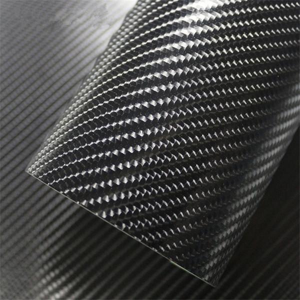 2 stücke 50 * 150 cm 4D Kohlefaser Glänzend Auto Film PVC Innen Styling Vinyl Wrap Farbwechsel Auto Aufkleber Rosa Schwarz Silber